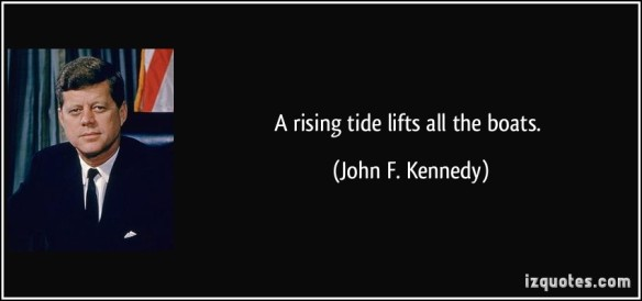 JFK Rising Tide Lifts All Boats